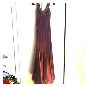 Cache eggplant colored gown